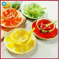 ست ظروف سرامیکی طرح میوه 3تکه